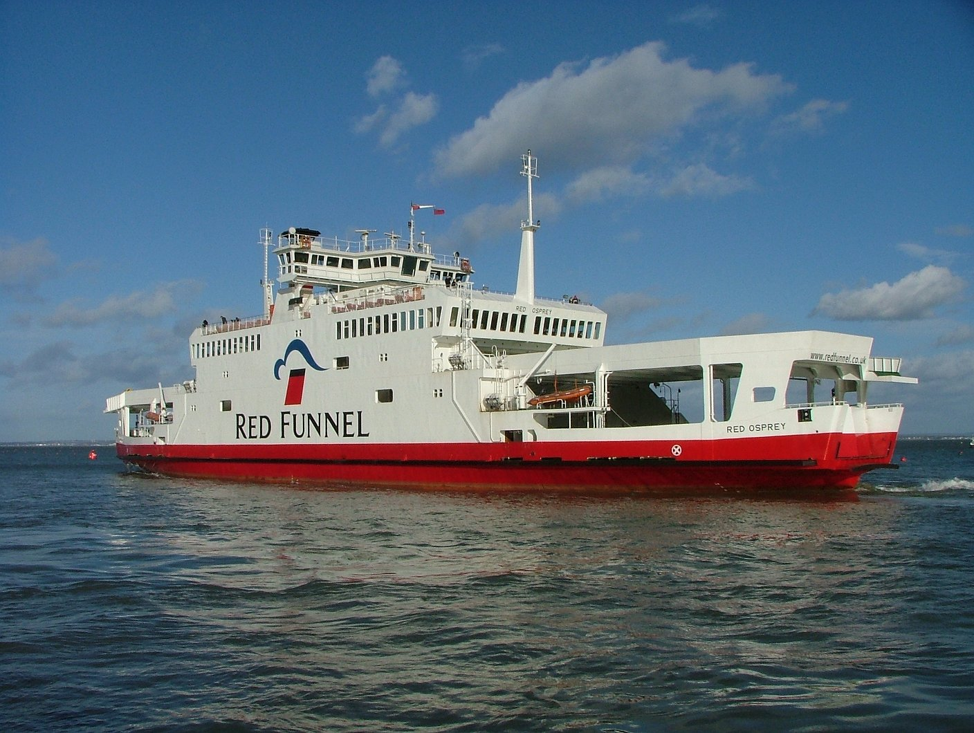 Red Funnel Crossings can be Included in your Booking